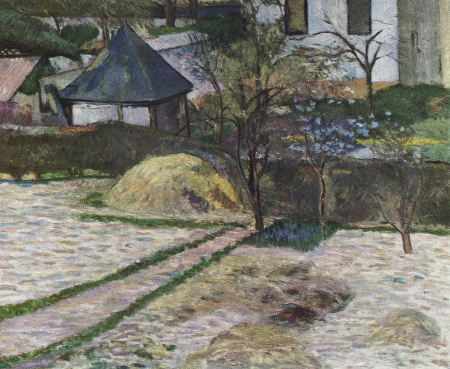 Зимний пейзаж - близ Осни :: Поль Гоген - Paul Gauguin фото