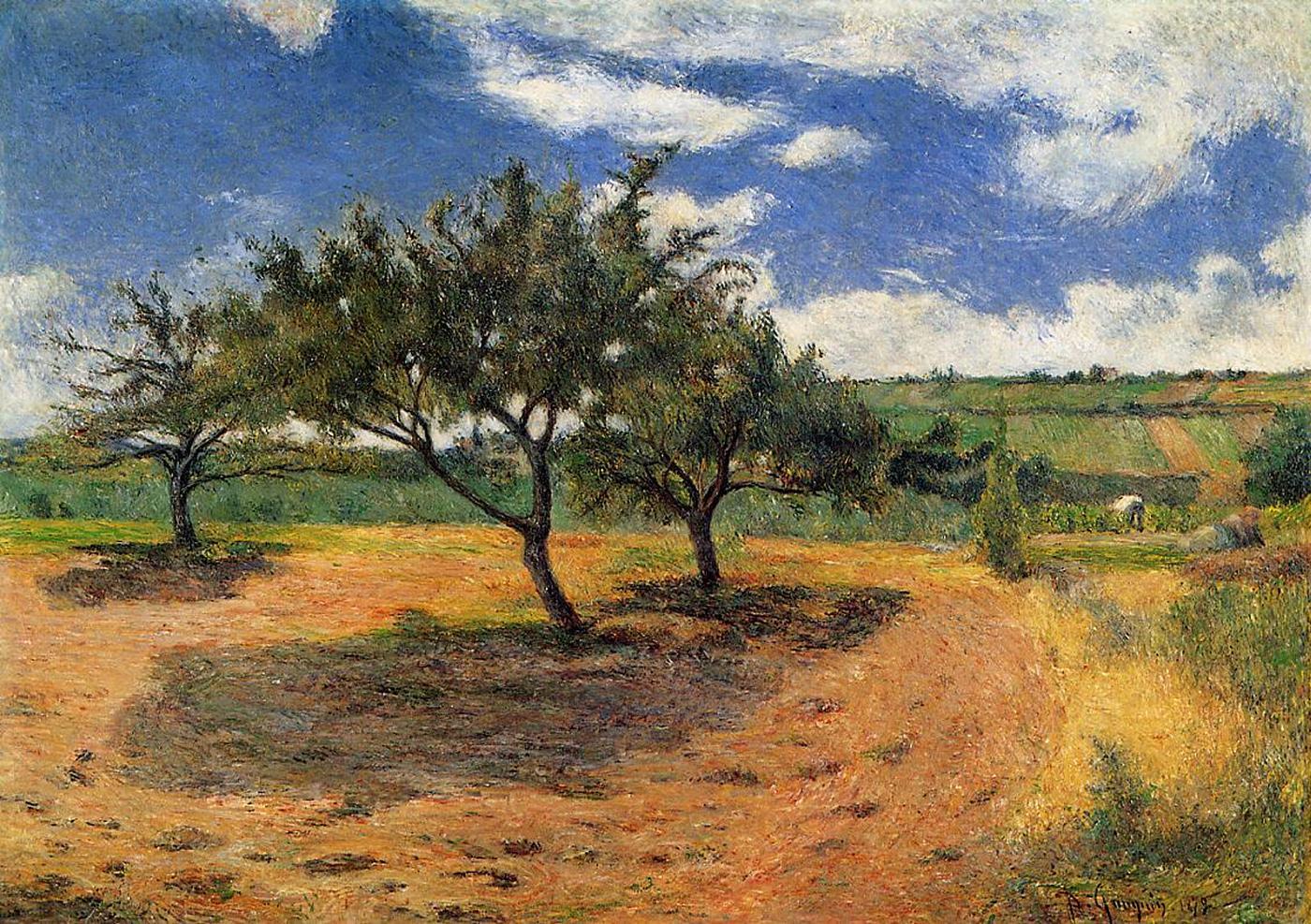 Серийный пейзаж <A192 >  :: Поль Гоген [ живопись постимпрессионизм ] - Гоген Поль ( Paul Gauguin ) фото