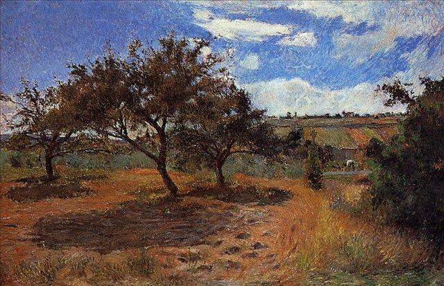 Серийный пейзаж < Яблони >  :: Поль Гоген [ живопись постимпрессионизм ] - Paul Gauguin фото