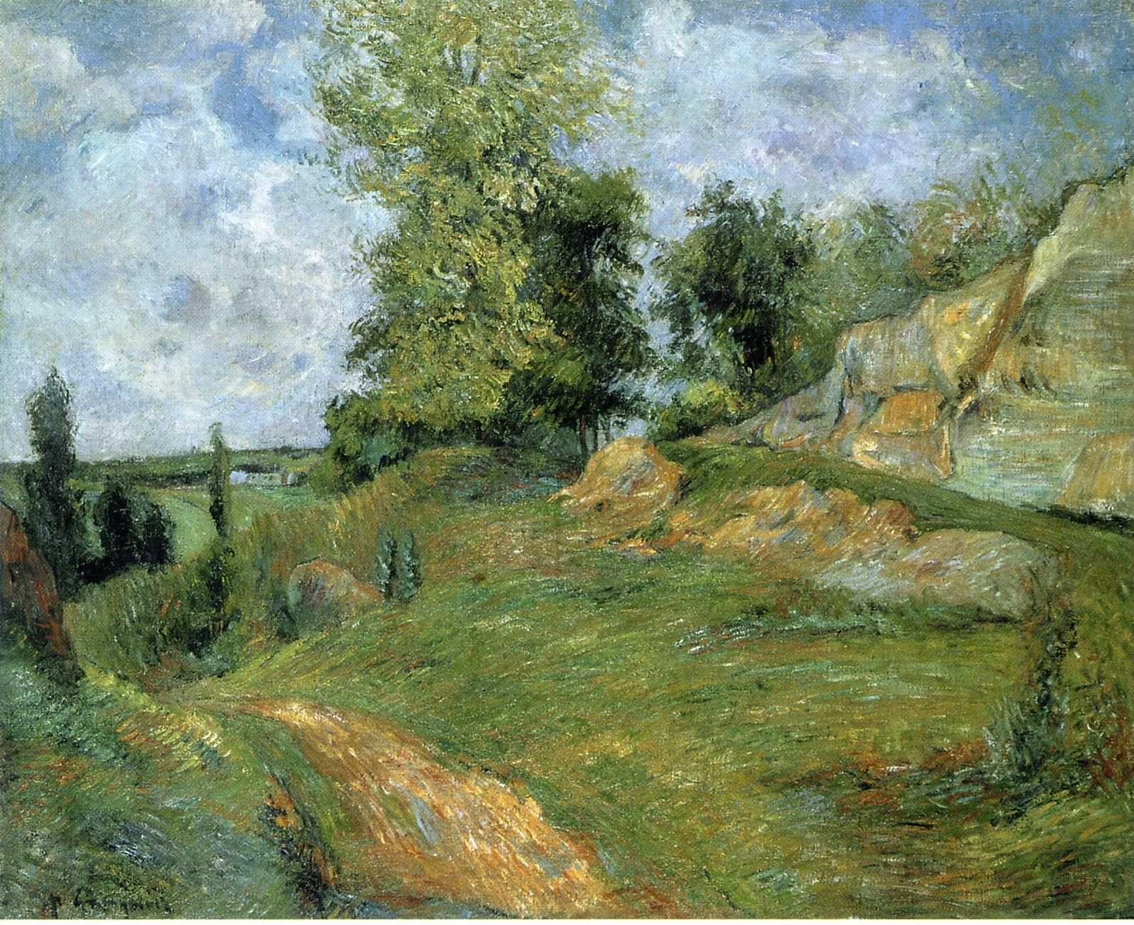 Серийный пейзаж < Каменоломни в Понтуа >  :: Поль Гоген [ живопись постимпрессионизм ] - Гоген Поль ( Paul Gauguin ) фото