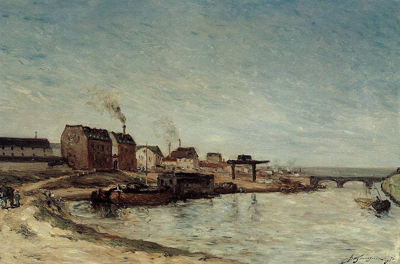 Серийный пейзаж Порт де Гренелль :: Поль Гоген [ живопись постимпрессионизм ] - Paul Gauguin фото