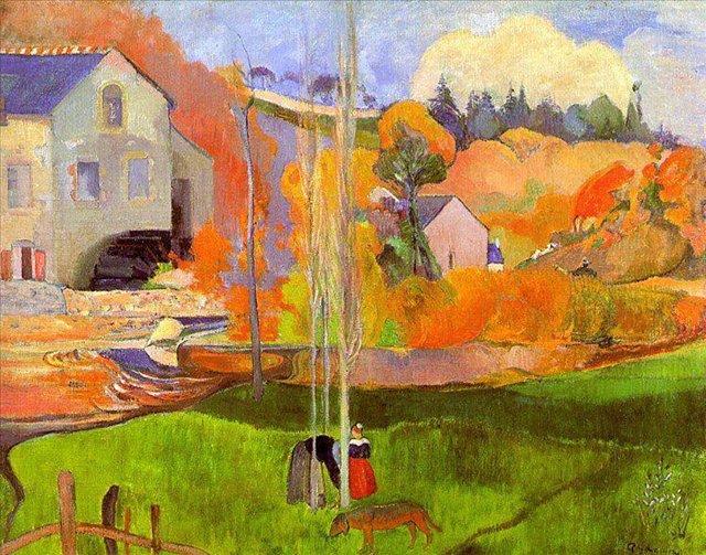 Бретонская серия < Бретонский пейзаж >  :: Поль Гоген [ живопись постимпрессионизм ] - Paul Gauguin фото