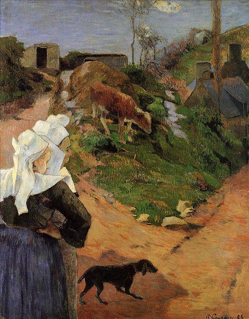 Бретонская серия < Бретонские женщины в полоборота >  :: Поль Гоген [ живопись постимпрессионизм ] - Paul Gauguin фото