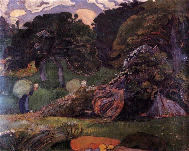 Бретонская серия < Пейзаж >  :: Поль Гоген [ живопись постимпрессионизм ] - Гоген Поль ( Paul Gauguin ) фото