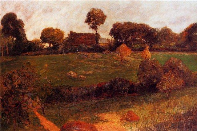 Бретонская серия < Ферма >  :: Поль Гоген [ живопись постимпрессионизм ] - Paul Gauguin фото