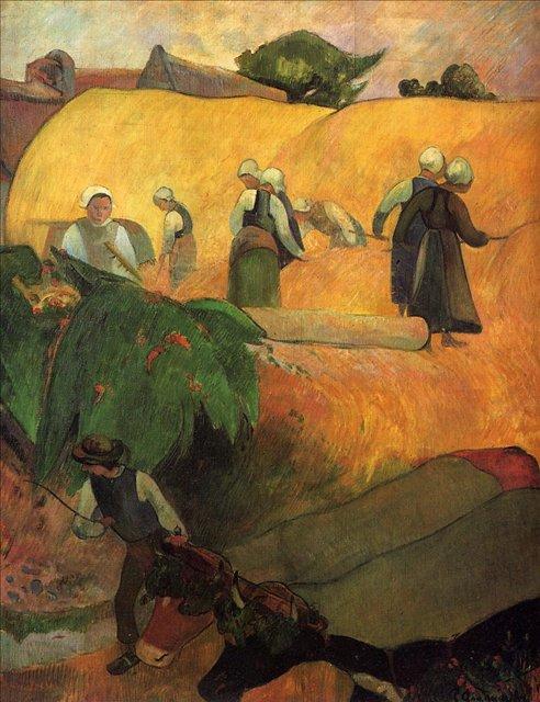 Бретонская серия < Сенокос >  :: Поль Гоген [ живопись постимпрессионизм ] - Paul Gauguin фото