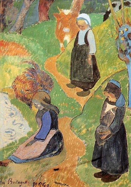Бретонская серия < В Бретони >  :: Поль Гоген [ живопись постимпрессионизм ] - Paul Gauguin фото
