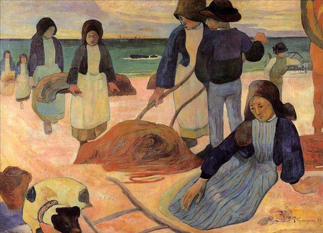 Бретонская серия < Собиратели водорослей >  :: Поль Гоген [ живопись постимпрессионизм ] - Гоген Поль ( Paul Gauguin ) фото