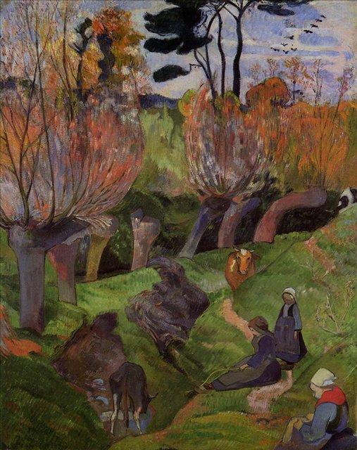 Бретонская серия < Ивы >  :: Поль Гоген [ живопись постимпрессионизм ] - Paul Gauguin фото