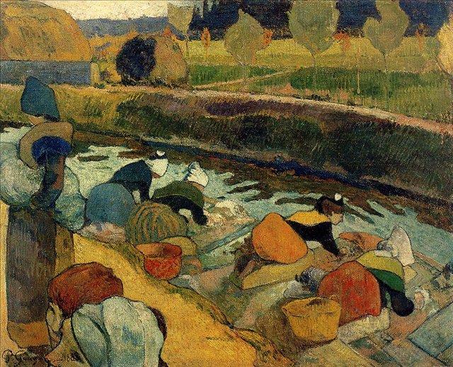 Бретонская серия < Прачки на Рубин дю Руа, Арли >  :: Поль Гоген [ живопись постимпрессионизм ] - Гоген Поль ( Paul Gauguin ) фото