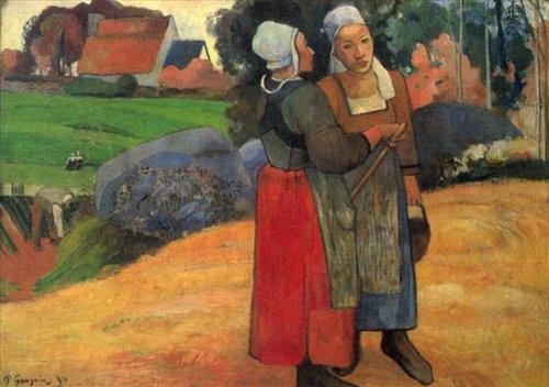 Бретонская серия < Бретонские крестьянки >  :: Поль Гоген [ живопись постимпрессионизм ] - Гоген Поль ( Paul Gauguin ) фото