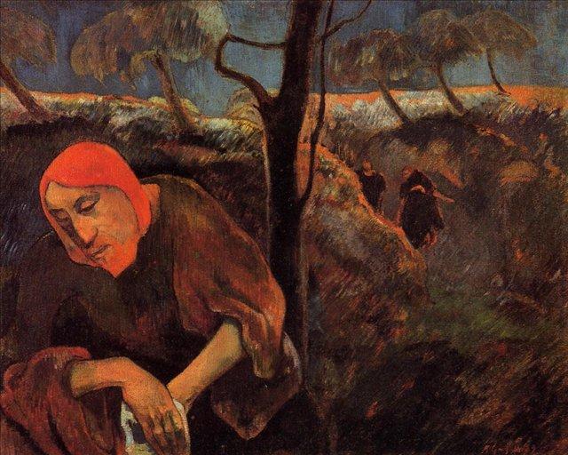 Сакральные картины Христос в оливковом саду :: Поль Гоген - Paul Gauguin фото
