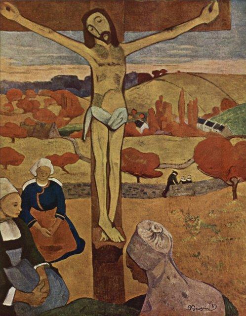Сакральные картины < Жёлтый Христос >  :: Поль Гоген [ живопись постимпрессионизм ] - Paul Gauguin фото