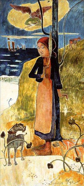 Сакральные картины < Жанна ДАрк >  :: Поль Гоген [ живопись постимпрессионизм ] - Paul Gauguin фото