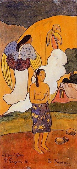 Сакральные картины < Te faruru (Случайная встреча) >  :: Поль Гоген [ живопись постимпрессионизм ] - Гоген Поль ( Paul Gauguin ) фото