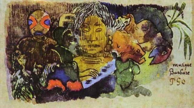 Сакральные картины Загадочная дикость :: Поль Гоген [ живопись постимпрессионизм ] - Paul Gauguin фото