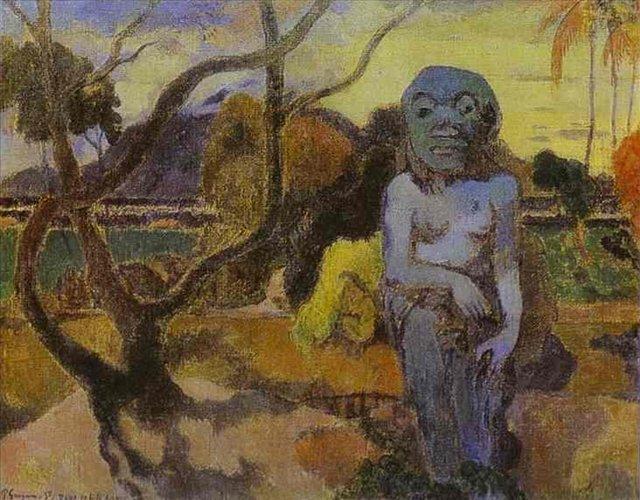 Сакральные картины < Rave te htit aamy (Идол) >  :: Поль Гоген [ живопись постимпрессионизм ] - Paul Gauguin фото