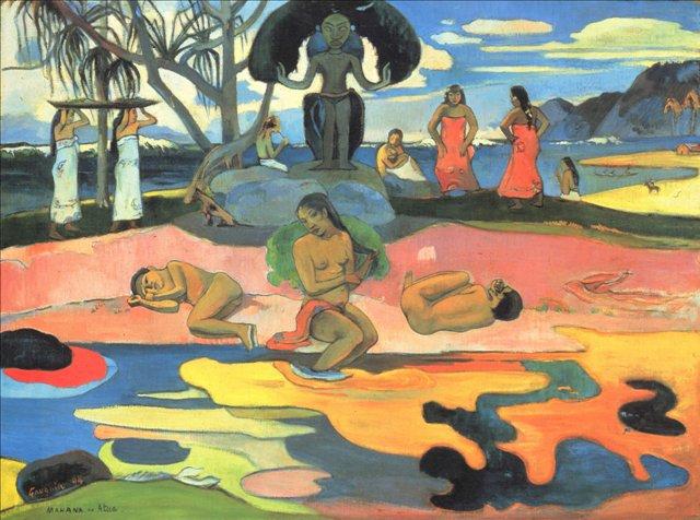 Сакральные картины < Воскресенье (Mahana no atua) >  :: Поль Гоген [ живопись постимпрессионизм ] - Гоген Поль ( Paul Gauguin ) фото