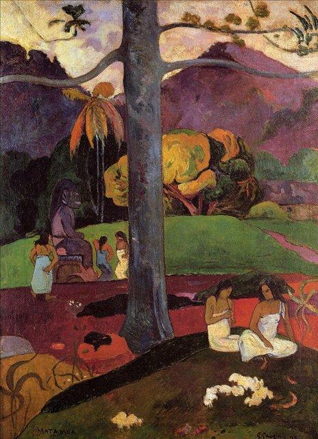 Сакральные картины Mata Mua (Былые времена) :: Поль Гоген [ живопись постимпрессионизм ] - Paul Gauguin фото