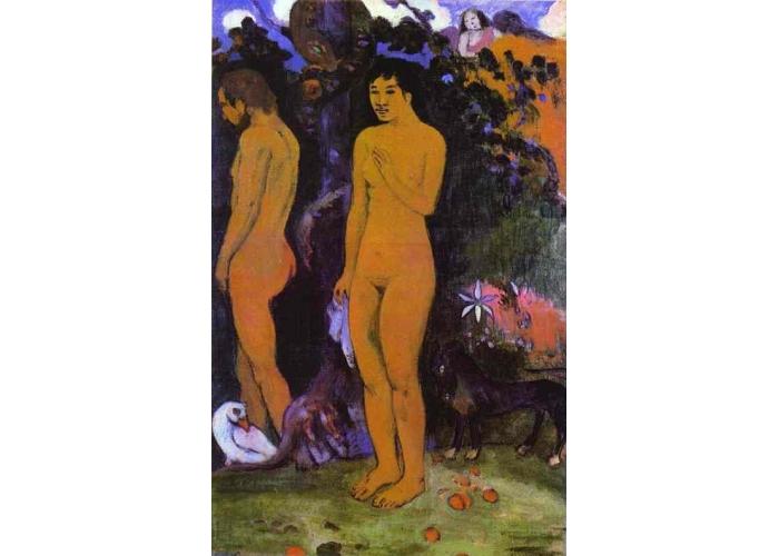 Сакральные картины Адам и Ева :: Поль Гоген [ живопись постимпрессионизм ] - Paul Gauguin фото