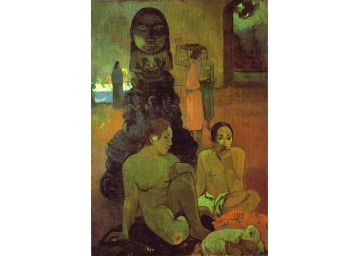 Сакральные картины Великий Будда  :: Поль Гоген [ живопись постимпрессионизм ] - Paul Gauguin фото