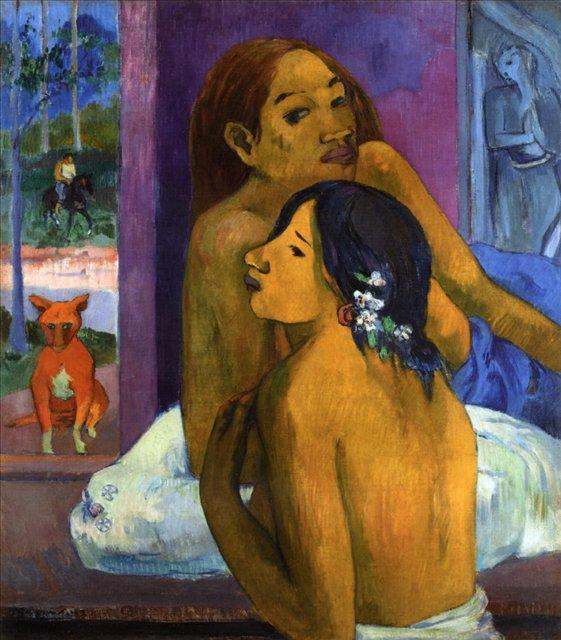 Картина Ню Две женщины (Цветы в волосах)  [ живопись постимпрессионизм ] - Paul Gauguin фото