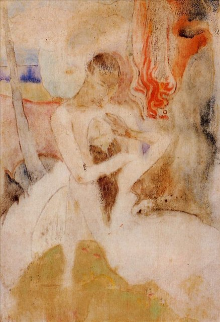 Картины Ню < Te Faruru >  :: Поль Гоген [ живопись постимпрессионизм ] - Paul Gauguin фото