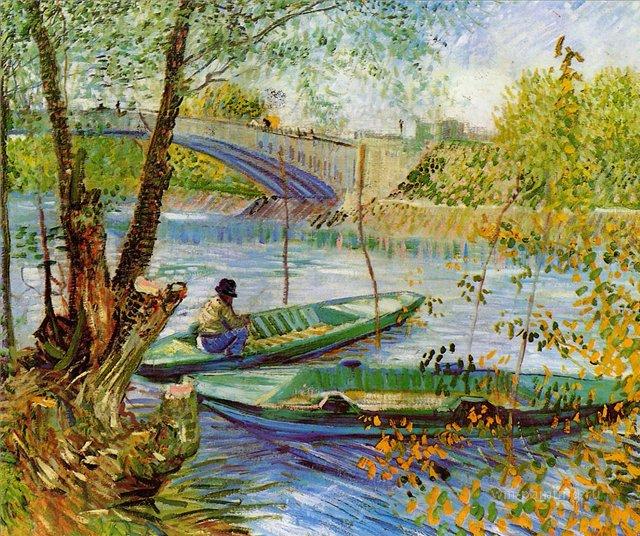 Рыбалка весной [ картина - речные и морские пейзажи ] :: Ван Гог, описание картины - Van Gogh фото
