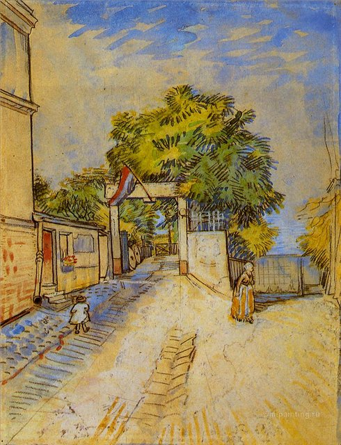 Вход в бельведер :: Ван Гог, описание картины - Van Gogh фото