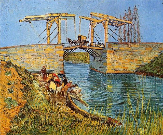 Мост Ланглуа в Арли [ картина - мосты ] :: Ван Гог, описание картины - Van Gogh (Ван Гог) фото