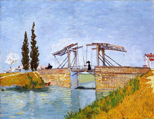 Мост Ланглуа:: Ван Гог, описание картины - Van Gogh (Ван Гог) фото