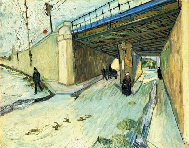 Железнодорожный мост над улицей Монмажор :: Ван Гог, описание картины - Van Gogh фото