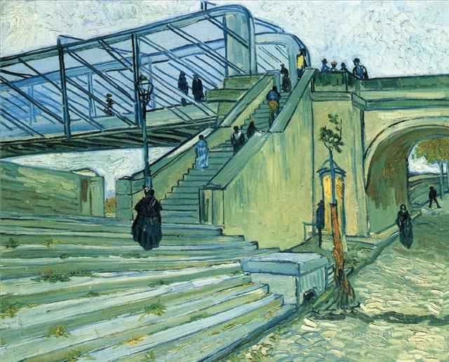 Мост Тринкиталль[ картина - мосты ] :: Ван Гог, описание картины - Van Gogh (Ван Гог) фото