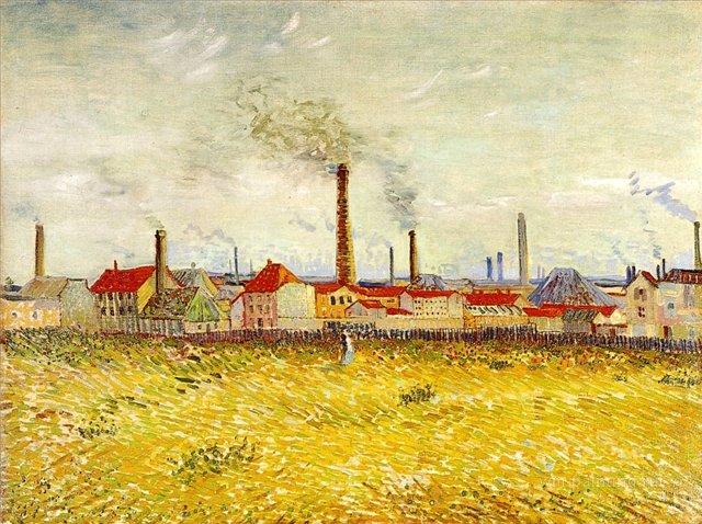 Фабрики в Аснерис, вид с Квай де Клиши [ картина - пейзаж ] :: Ван Гог, описание картины - Van Gogh фото
