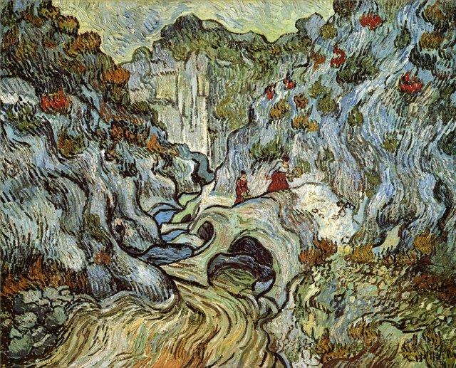 Тропа в ущелье[ картина - пейзаж ] :: Ван Гог, описание картины - Van Gogh (Ван Гог) фото