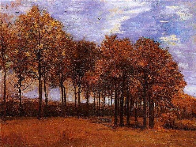 Осенний пейзаж [ картина - пейзаж ] :: Ван Гог, описание картины - Van Gogh (Ван Гог) фото