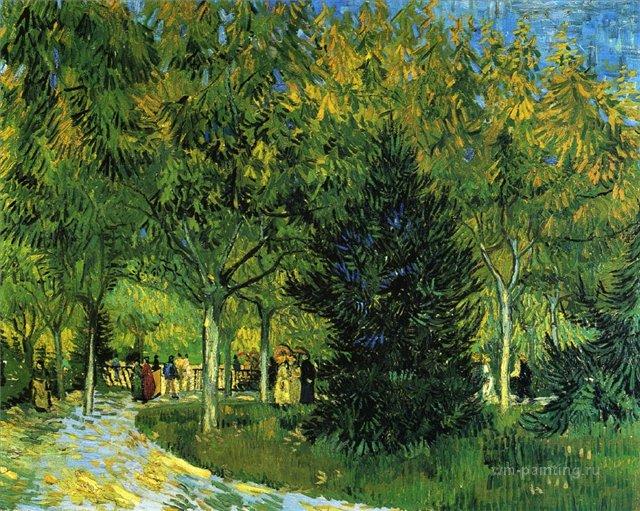 Улица в парке [ картина - пейзаж ] :: Ван Гог, описание картины - Van Gogh фото