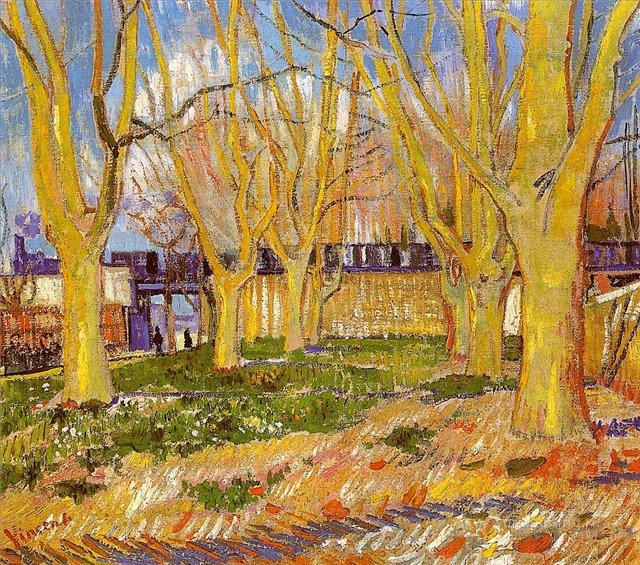 Улица с платанами рядом со станцией Арли :: Ван Гог, описание картины - Van Gogh (Ван Гог) фото