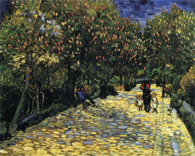Улица с цветущими каштанами [ картина - пейзаж ] :: Ван Гог - Van Gogh фото