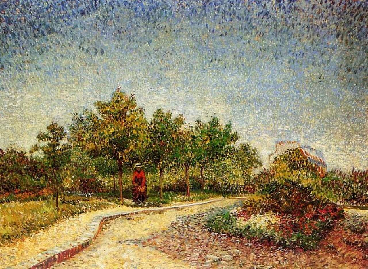 Тропинка в парке Аргенсон, Аснерис [ картина - пейзаж ] :: Ван Гог, описание картины - Van Gogh фото
