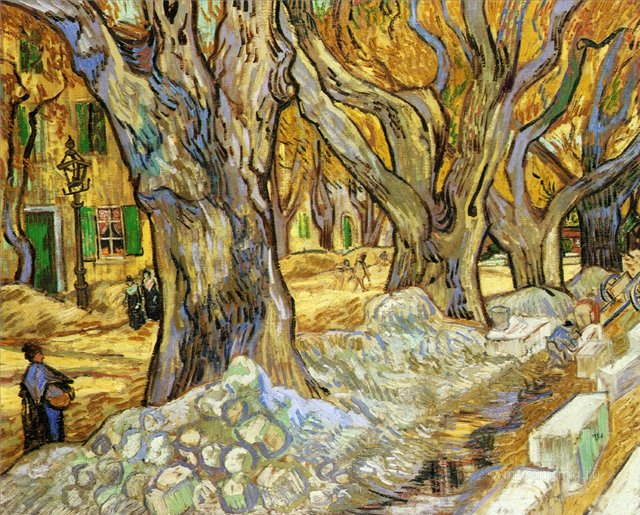 Большой платан[ картина - пейзаж ] :: Ван Гог, описание картины - Van Gogh фото