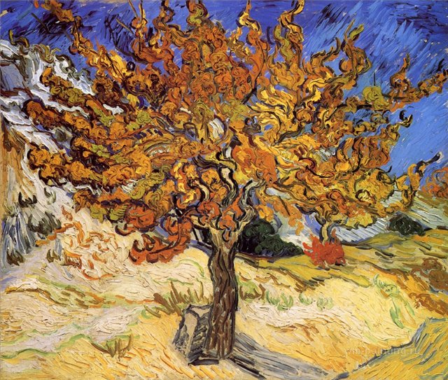 картина Шелковица:: Ван Гог, описание картины - Van Gogh фото
