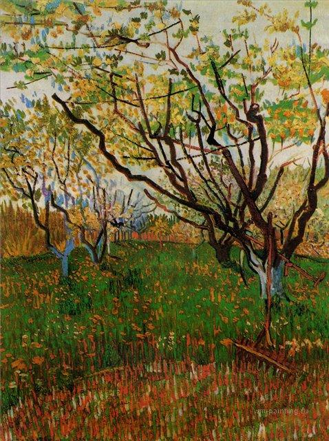 Цветущий сад [ картина - пейзаж ] :: Ван Гог, описание картины - Van Gogh (Ван Гог) фото