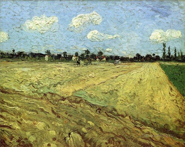 Вспаханное поле[ картина - пейзаж ] :: Ван Гог, описание картины, плюс статья про подарки  - Van Gogh фото