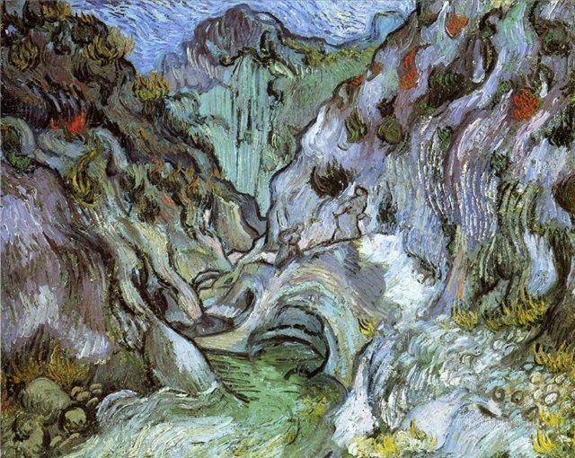 Овраг [ картина - пейзаж ] :: Ван Гог, описание картины - Van Gogh фото