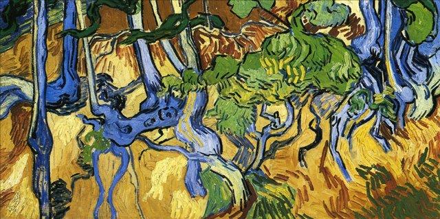 Корни и ветви [ картина - пейзаж ] :: Ван Гог, описание картины - Van Gogh фото