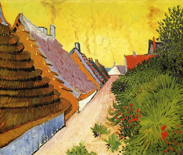 летний пейзаж Улица Сан-Мари :: Ван Гог, описание картины - Van Gogh фото