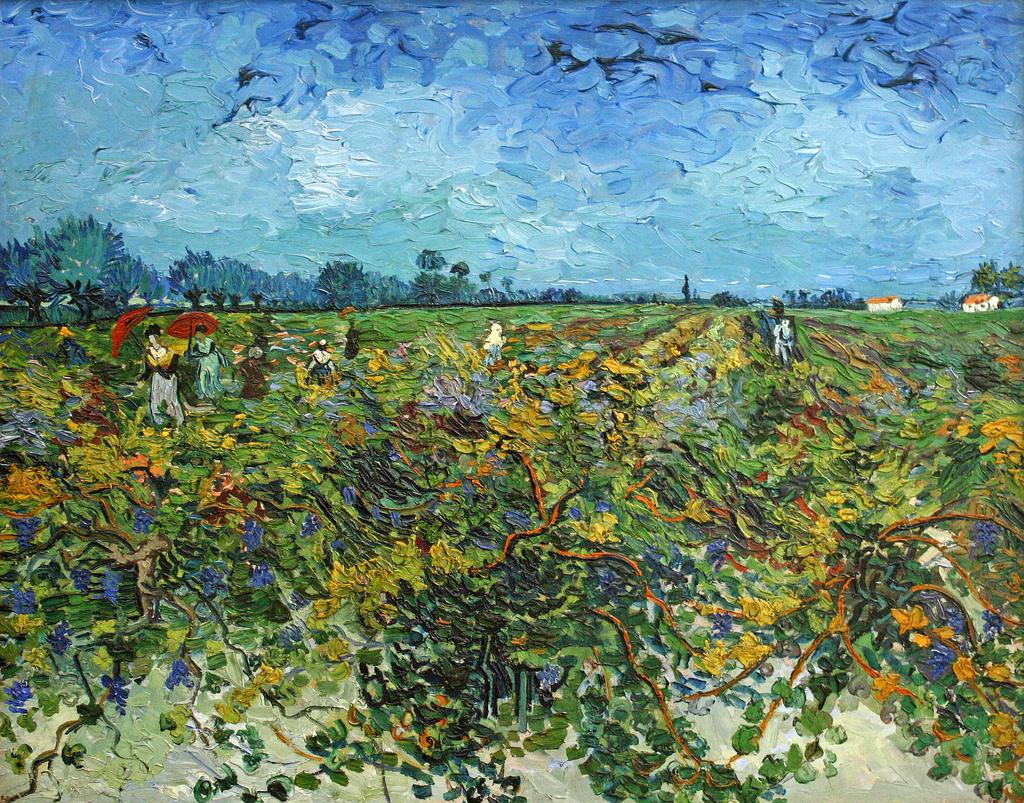 Зелёный пейзаж [ картина - пейзаж ] :: Ван Гог, описание картины - Van Gogh фото
