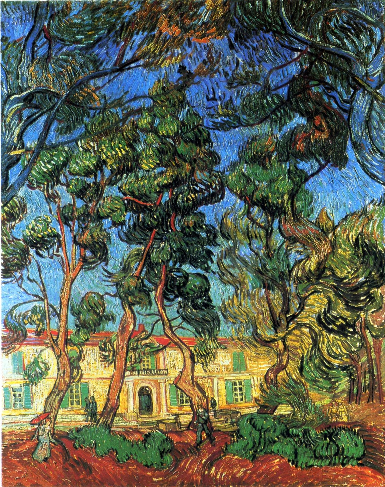 Угодья приюта [ картина - пейзаж ] :: Ван Гог, описание картины - Van Gogh фото