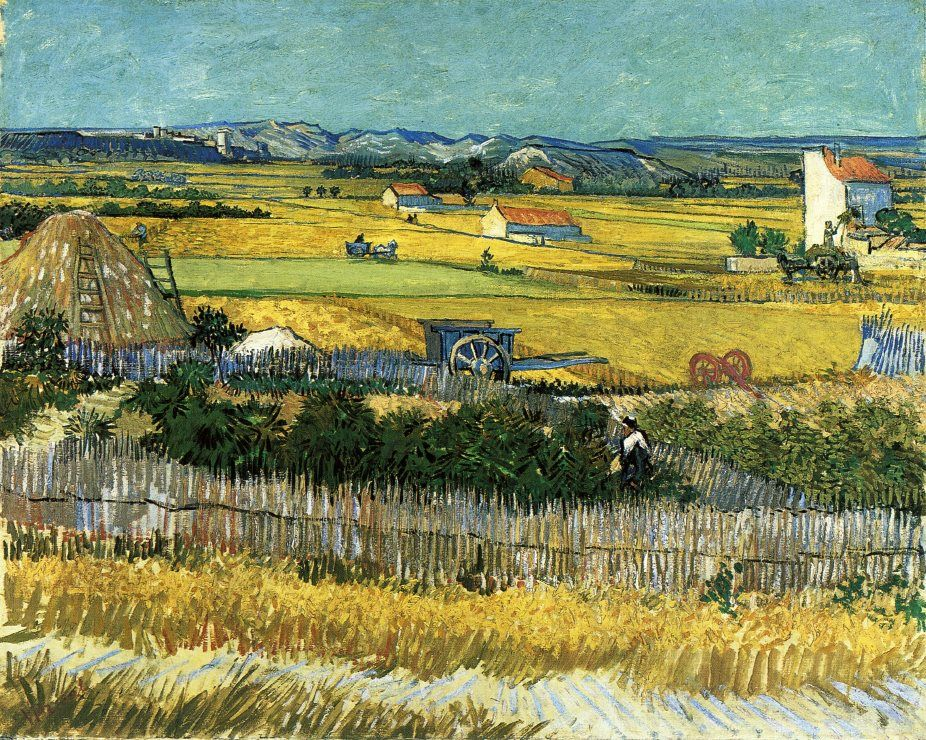 Жатва [ картина - пейзаж ] :: Ван Гог, описание картины - Van Gogh фото